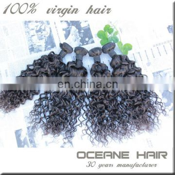 Silky and smooth new arrival most fashionable large stock top grade wholesale supply kinky curly human hair weave