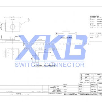 Replace alpsTS-2030-x XKB brand  light touch 2*3 tact switch