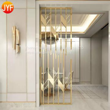 JYFQ0125 304 Morden Stainless Steel Restaurant Partitions Screen Rome Divider