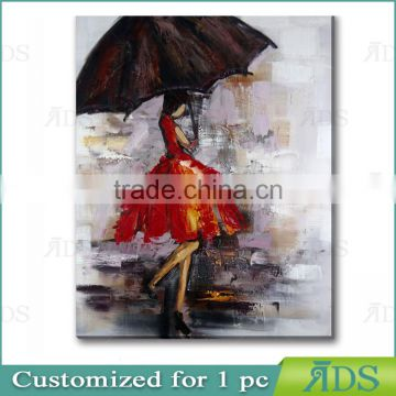 Amazon Hotselling 100% Handmade Wall Art Beautiful Girl Sex Oil Picture Painting