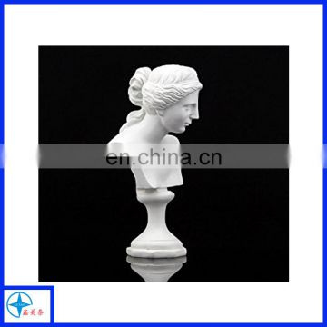 Top popular resin lady white bust head statue
