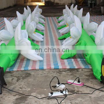 wedding decoration led inflatable flower chain for party