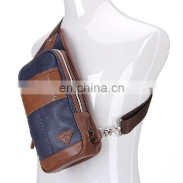 small practical mens pure leather shoulder messenger bag