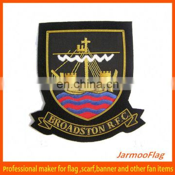 2015 high quality custom embroidered badge