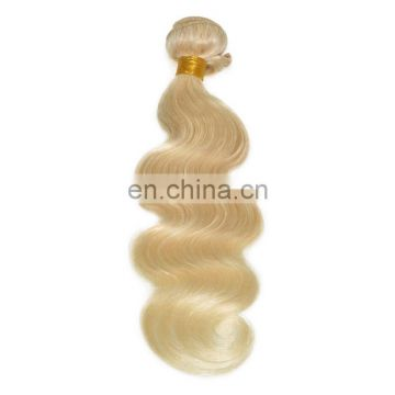 Blonde color hair extension 100% human hair body wave brazilian hair