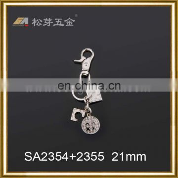 High Quality Lobster Claw Trigger 21mm Round Swivel Eye Bolt Zinc Casted Snap Hooks for key ring