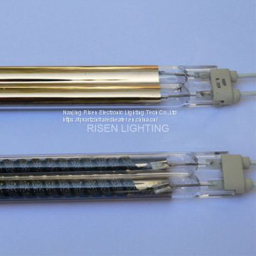 Gold Twin Tube Carbon Heat Lamp