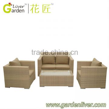 wholesale garden wicker two seater sofa set poly rattan furniture                                                                         Quality Choice