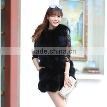 CN-R-3 2016 New Genuine Real Fox Fur Vest Women's Fox Fur Coat Nature Fur Fox Vest