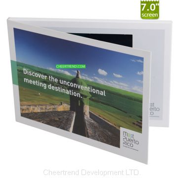 4.3/ 5 / 7 / 10.1'' lcd video mailer for financial service company direct mailing lcd video greeting card for promotion