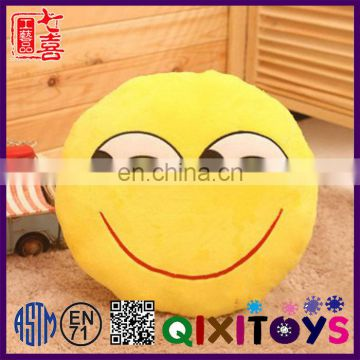 Wholesale stuffed cartoon toy plush emoji,30cm plush emoji pillow