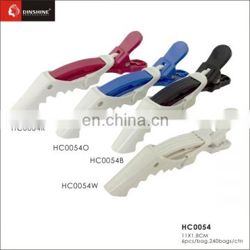 barber supplies beauty plastic hair clips with all kind of color