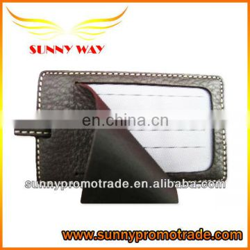 Litchi Textures bussiness style PU leather luggage tag with your LOGO