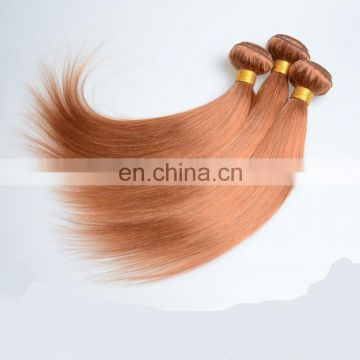 Top quality brown color human hair extensions factory wholesale malaysian hair weaving