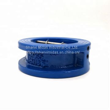 DIN standard ductile cast iron wafer silent check valve 10 inch