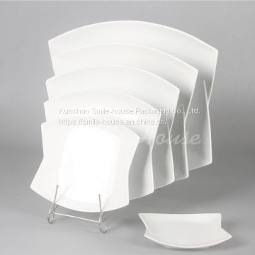 Hot sell white ceramic beef dishes