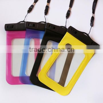 Touch screen clear PVC waterproof bag for mobile