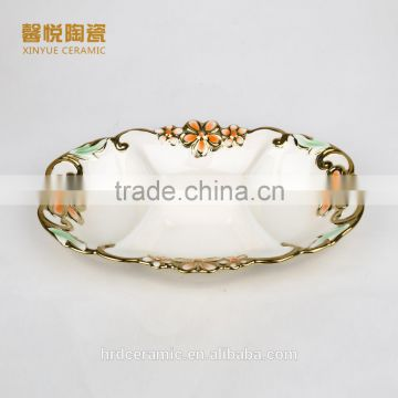 China Factory Wholesale golden electroplating fruit departed plate