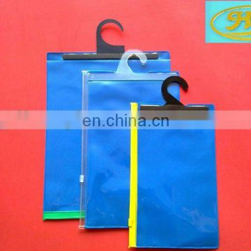 eco-friendly eva plastic gusset bag with hanger