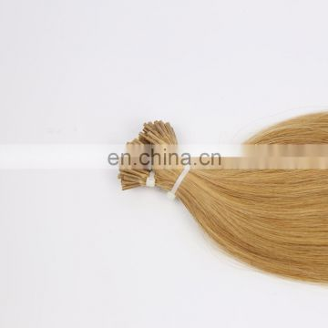 Indian virgin human hair stick I tip hair in silky straight wave wholesale price