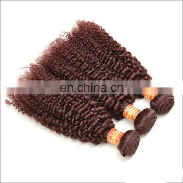 Color 530# high quality tight curly brazilian hair