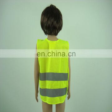 Wholesale high visibility reflective purple pink blue yellow child safety vest