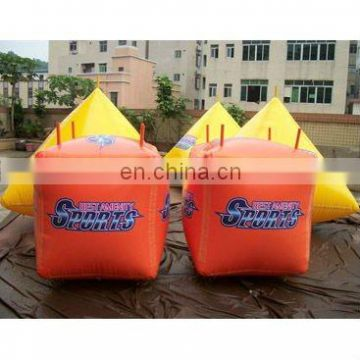 inflatable float buoys in cube pyramid shape for water triathlons events