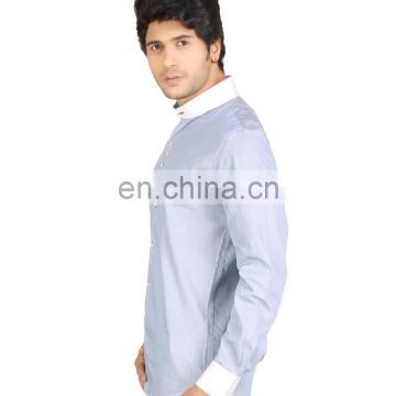 Red Country Trendy Light Blue Cotton Striped Slim Fit