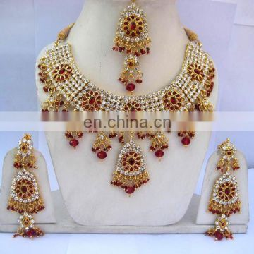 INDIAN DESIGNER KUNDAN JEWELLERY NECKLACE SET