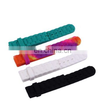 fancy 23mm silicone rubber watch strap