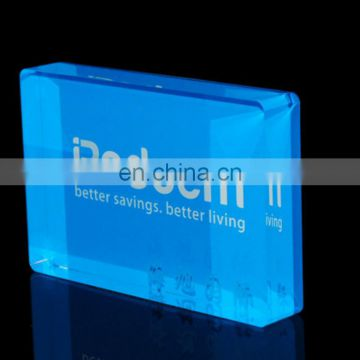 Black square acrylic logo block display pmma plexiglass acrylic block