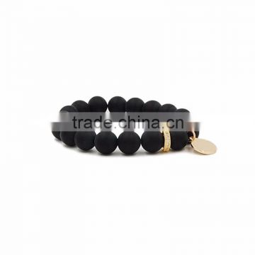 WWW0311 Fashion Charm Quartz elastic rope bracelets for girls or women natural stone bead bracelet