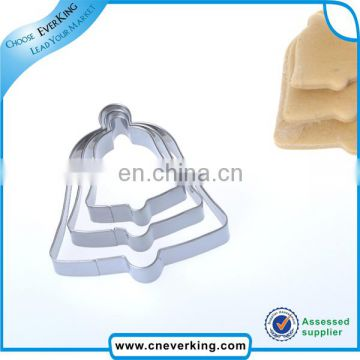 Christmas decoration door bell coated cookie cutter