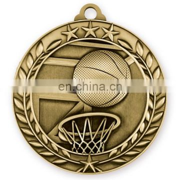 Custom metal basketball medal