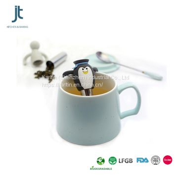 100% Food Grade Silicone Tea Infuser, Stainless Steel penguin Tea Infuser