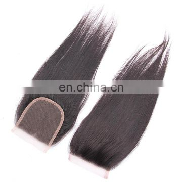 China wholesale suppliers raw Indian hair lace closure 4x4 silk base hair extensions
