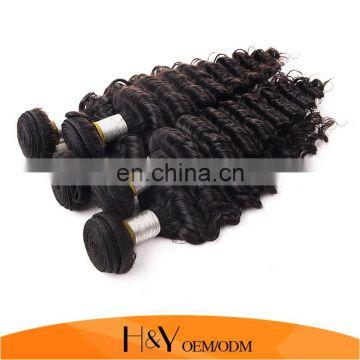 Top Selling 100% Human Hair Extension Natural Color Cheap 8A Malaysian Virgin Hair Deep Wave Hair From HY Factory Store