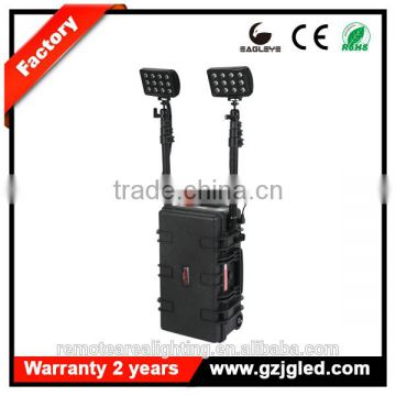GZ JGL heavy duty rechargeable searchlig Quality Tested 72W rechargeable led remote area lighting system RLS-72W, ABS Case Style