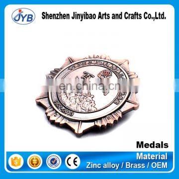 wholesale cheap price custom brass medallion manufacturer