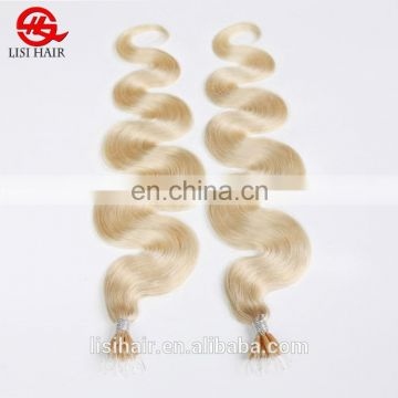 Nano Ring Virgin Remy Hair Extension Blond Bundles Hair Weaves Hair Weave Extension