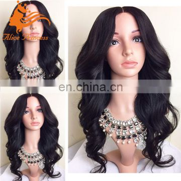 china best body wave human lace front wig virgin mongolian hair wig wavy side part lace front wig