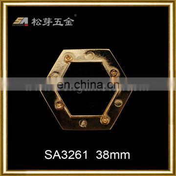 Nickle free High quality zinc alloy metal hexagon eyelets for leather handbags curtain