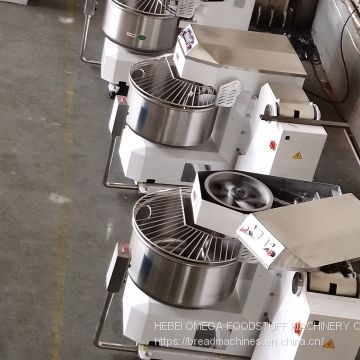 industrial stainless steel automatic tipping spiral mixer with two timer control