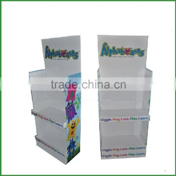 cheap promotional high quality corrugated custom paper display stand