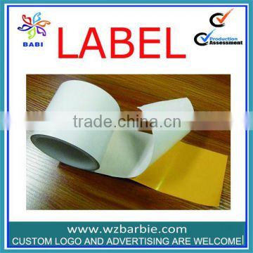 good quality paper adhesive sticker labels printing