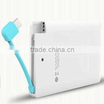 2015 credit card size power bank 2500mah