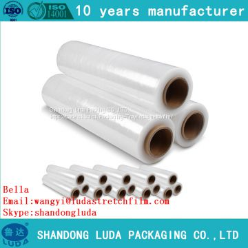 handmade LLDPE packaging stretch wrap film roll supply