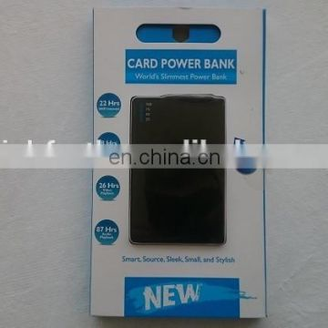 New Arrival Credit Card Shape Power Bank