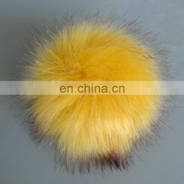 Big faux fox fur pompom fake fur ball accessory handmade wholesale