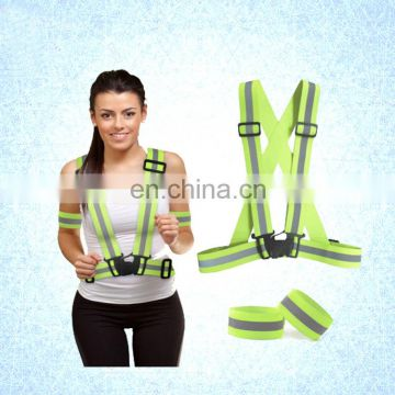 Fancy Women Reflective Safety Running Belt with Wrist Band